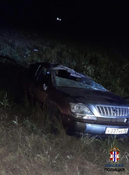 В Омской области водитель «Лексуса» улетел в кювет и погиб #Новости #Общество #Омск