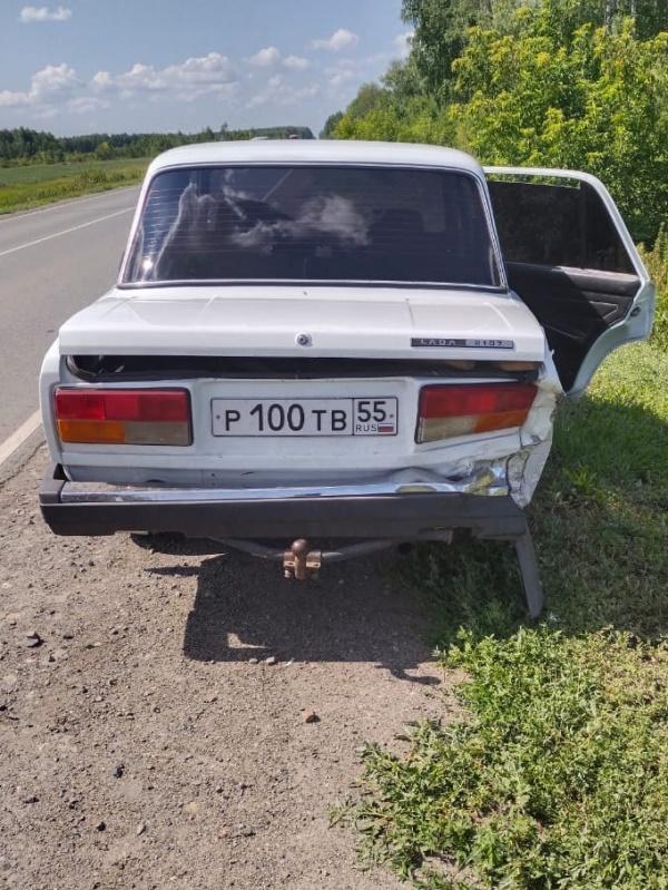 Тройное ДТП в Омской области: иномарка – в кювете, ребенок – в больнице #Новости #Общество #Омск