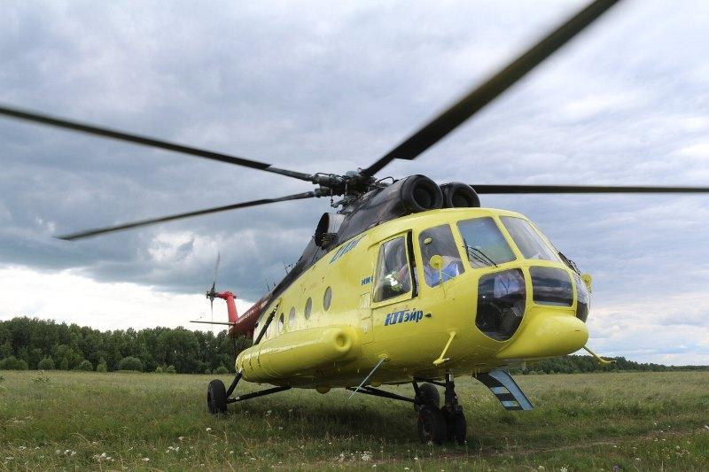 В Омске экстренно сел вертолет, у которого отказал автопилот #Новости #Общество #Омск