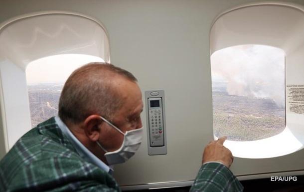 Эрдоган назвал возможную причину лесных пожаров