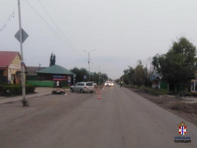 Жительница Омской области отправила юного мотоциклиста в больницу #Новости #Общество #Омск