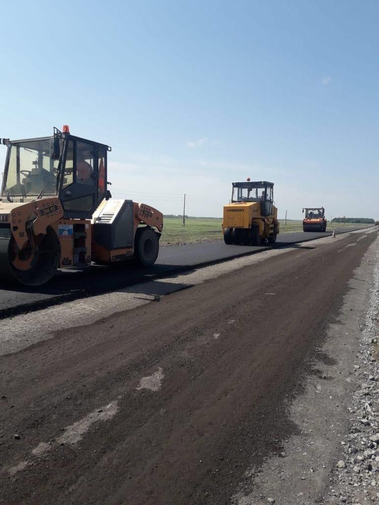 В Омской области продолжается ремонт «убитой» дороги до Шербакуля #Новости #Общество #Омск