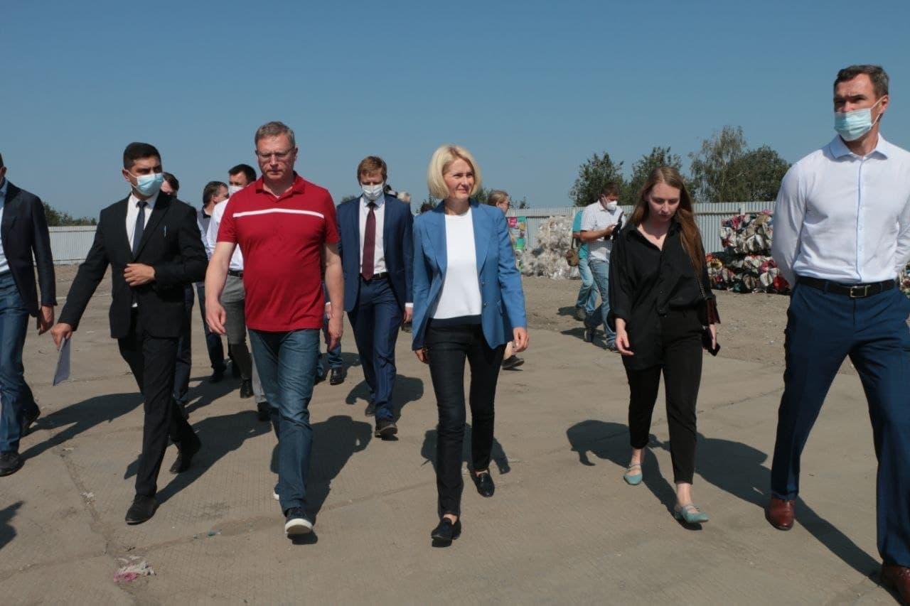 Абрамченко прилетела в Омск и сразу отправилась на свалку #Омск #Общество #Сегодня