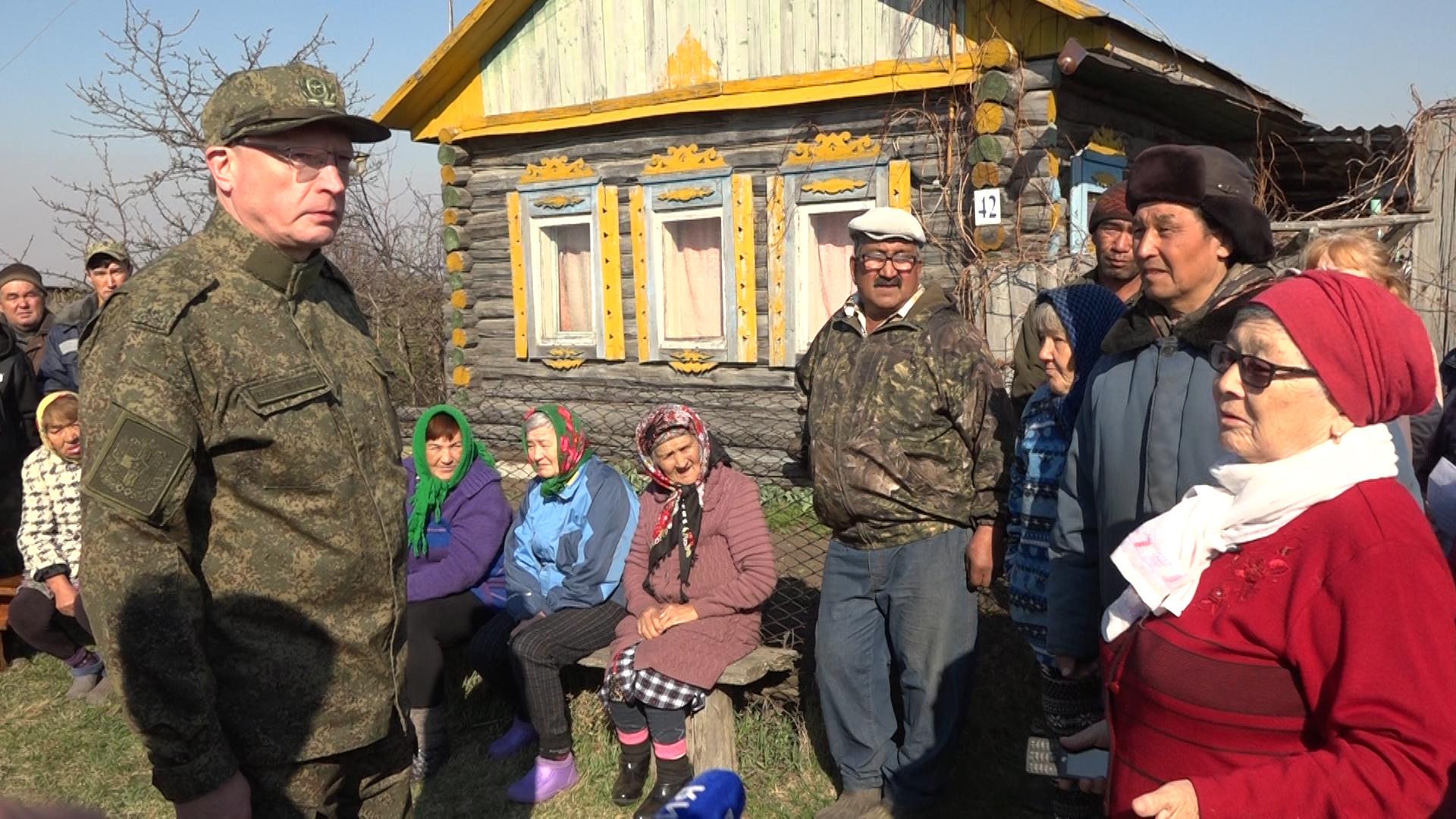 Бурков посетит омскую деревню, которую весной уничтожил пожар #Омск #Общество #Сегодня