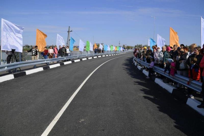 Через Омь построили мост со стратегическим значением #Омск #Общество #Сегодня