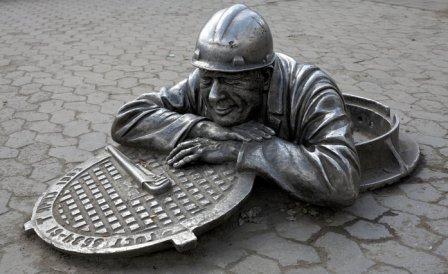 Скульптура «Сантехник Степаныч» (Омск)