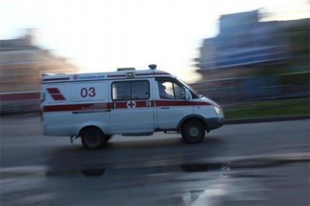 Автомобильная авария возле телевизионного центра в Омске.