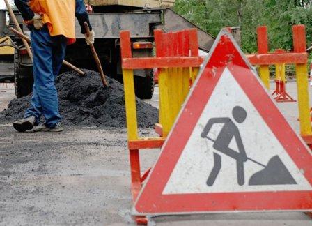 Ускоренный ремонт автодорог в Омске.
