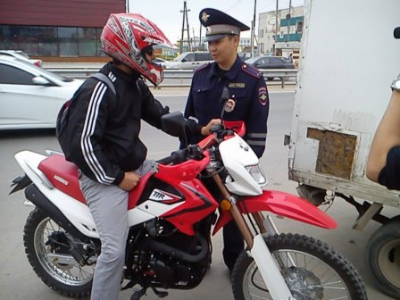 В Омске будут выявлять незарегистрированные мотоциклы.