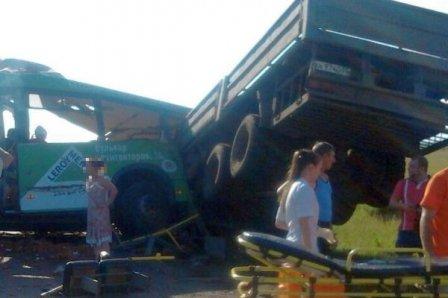 16 жертв в результате аварии с участием пассажирского транспорта