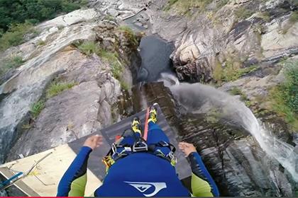 Швейцарец прыгнул в воду с высоты 19-этажного дома