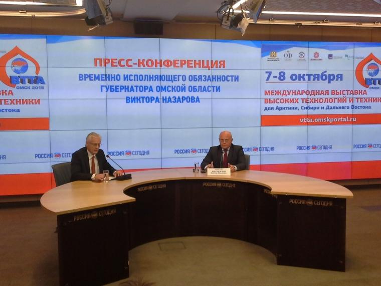 Виктор Назаров презентовал «ВТТА-Омск-2015» в информагентстве «Россия сегодня»