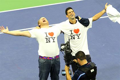 Джокович станцевал с фанатом на US Open