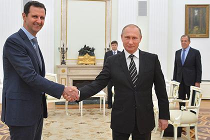 Асад поблагодарил Путина за спасение Сирии