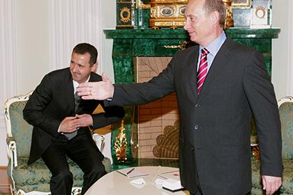 Путин встретился с Асадом в Москве