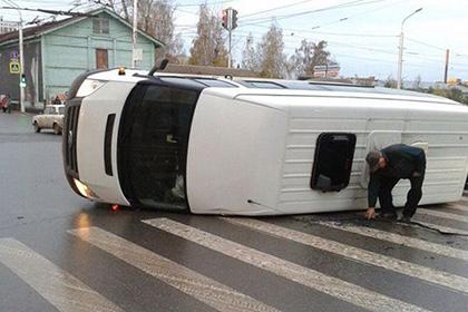 В результате ДТП в Уфе пострадали семь детей